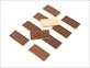 レザータグ端切れ(オイルヌメ)10枚セット チョコ