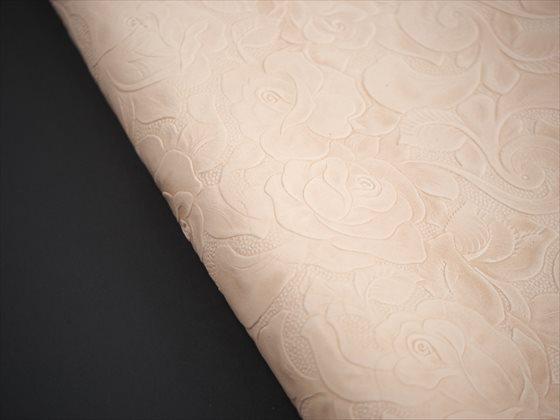 ヌメ革タンロー シェリダン型押し 半裁 #2