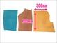 カラーレザー大判ヌメはぎれセット サイズ