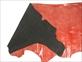 特価 クロコ型押し半裁(レッド)#88